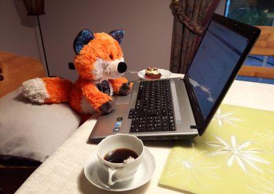 Dank starkem Kaffee und feinem Kuchen von Ann-Sophie schreitet die Arbeit voran